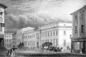 Die Preußische Bank in der Jägerstraße um 1850