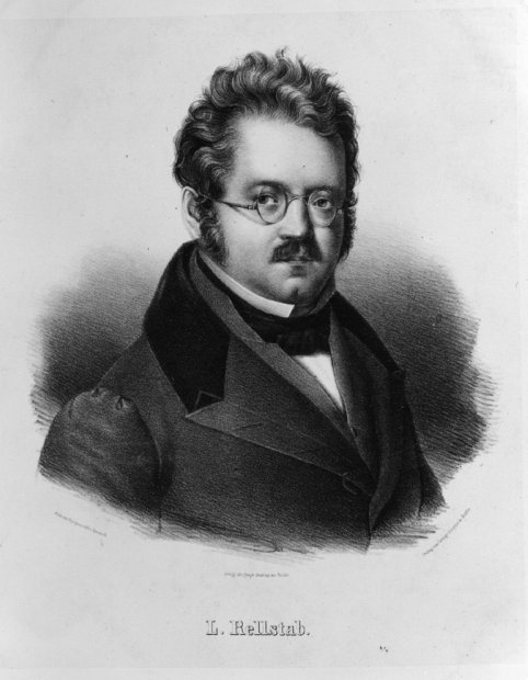 Porträt Ludwig Rellstabs um 1860