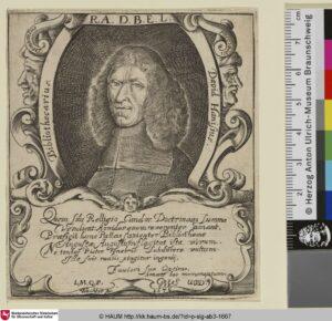 David Hanisius im Jahr 1676.