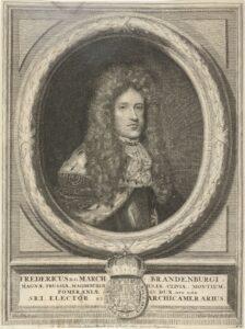 Porträt von Friedrich I. in Preußen um 1710.