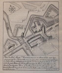 Plan des Heilig-Geist-Viertels 1720.