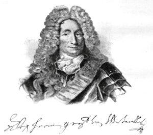 Porträt des Alexander Hermann Reichsgraf von Wartensleben nach einem Bild von Antoine Pesne, nach 1716.