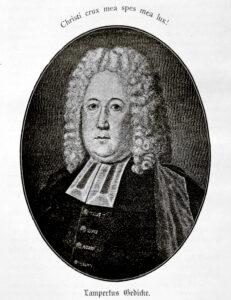 Porträt des Lampertus Gedicke, nach einem Kupferstich von Georg Paul Busch von ca. 1730.