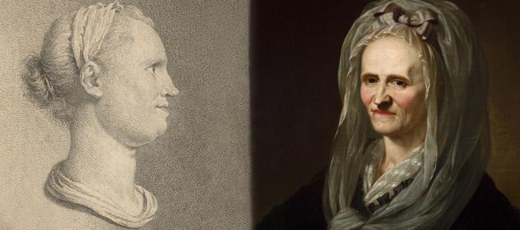 Zwei Porträts der Anna Louisa Karsch - 1763 und 1791 (Banner)