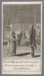 Audienz der Anna Louisa Karsch bei Friedrich II. 1763.