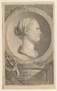 Porträt der Anna Louisa Karsch von Georg Friedrich Schmidt, 1763.