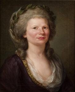Porträt der Caroline Louise von Klenke, geborene Karsch, von Johann Christoph Frisch, 1786.
