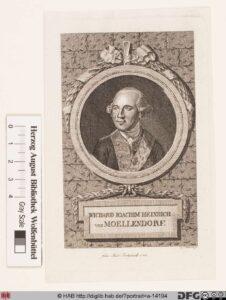 Porträt des Wichard Joachim Heinrich von Möllendorf, Kupferstich von Ludwig Schmidt, 1788.
