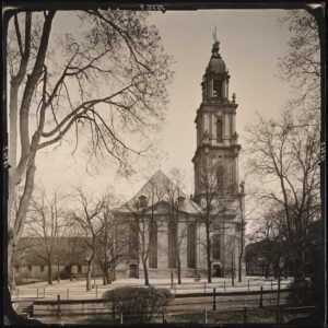 Die Potsdamer Garnisonkirche im Jahre 1920.