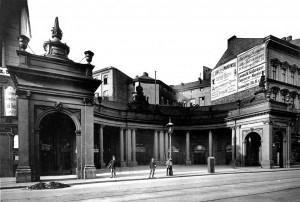 Die Spittelkolonnaden (südlicher Säulengang) 1891