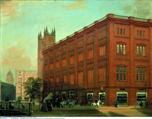 Die Bauakademie auf einem Gemälde von Eduard Gärtner (1868)