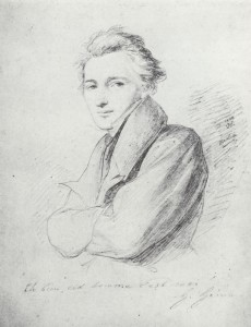 Heinrich Heine - Zeichnung von Wilhelm Hensel