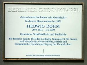 Berliner Gedenktafel für Hedwig Dohm.