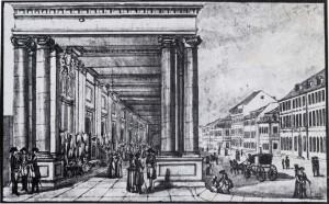 4. Die Königskolonnaden um 1784.