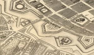 1. Plan der Gegend um die Königsbrücke 1748