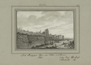 Das Leipziger Tor vor Cölln und Berlin um 1690