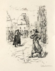 Max Liebermann: Illustration zu Der Rabbi von Bacherach.