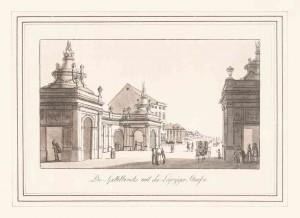 Die Spittelbrücke und die Leipziger Straße um 1778