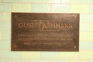 Der U-Bahnhof Alexanderplatz - Erinnerungstafel für Gustav Kemman
