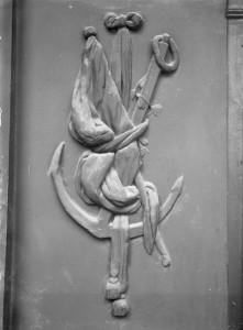 Relief an den Berliner Spittelkolonnaden in der Leipziger Straße, um 1930